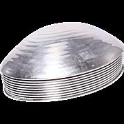 Fabulous Mid Century Victoria Silver Plate Shell Box