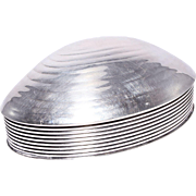Fabulous Mid Century Victoria Silver Plate Covered Shell Box
