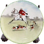 Vintage Royal Doulton Porcelain Hunting Scene Small Plate C. 1937