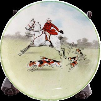 Vintage Royal Doulton Porcelain Hunting Scene Small Plate C. 1937