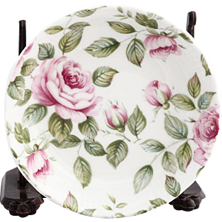 Vintage English Queens Rose Cottage Porcelain Dish