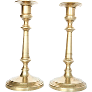 Fabulous Vintage Heavy Solid Brass Candlesticks - A Pair