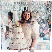 First Edition Vintage Martha Stewart Weddings Book, Pub. 1987