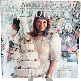 First Edition Vintage Martha Stewart Weddings Book, Pub. 1987