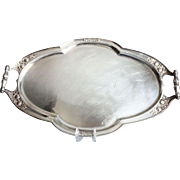 Fabulous Vintage Oversize Silverplate Serving Tray