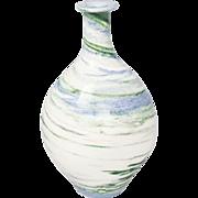Fabulous Modern Ceramic Pottery Vase Signed JES