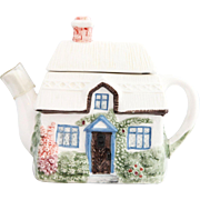 Vintage White Ceramic English Garden Teapot