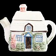 Vintage White Ceramic English Garden Teapot
