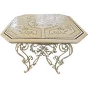 Gorgeous Cream Vintage Mosaic Table