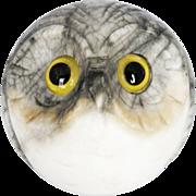 Fabulous Vintage Italian Alabaster Owl Paperweight