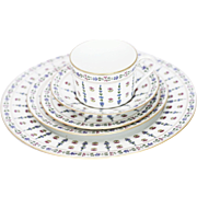 40 Pieces - Royale Limoges France Vintage Floral Porcelain Dinnerware - Service for Eight