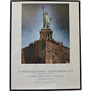 Vintage French Statue of Liberty Poster Photographed by Neal Slavin, Galerie Zabriskie Paris, 1977