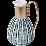 Mid Century C Miller 1957 Ceramic Warming Carafe Decanter