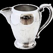 Beautiful Vintage Silver Hallmarked Art S Co. Pitcher