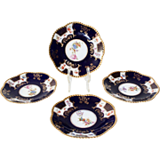 Czechoslovakian Epaig Royal Porcelain Dessert Plates - Set of 4