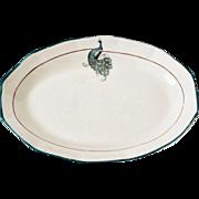 Fabulous Oval Saxon Ceramic Peacock Trinket Dish