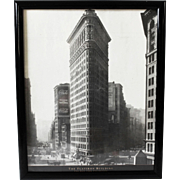 Vintage Iconic New York Flatiron Building Framed Poster