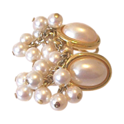 Faux Pearl Cabochon Dangle Earrings Liz Claiborne