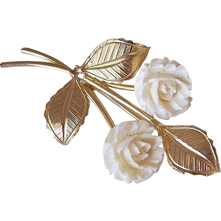 Double Rosettes Bouquet Brooch Pin