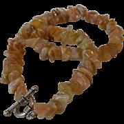 Caramel Agate Stone Necklace