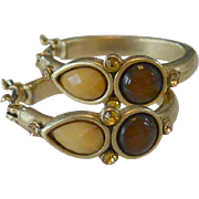 Dainty Decorated Hoop Earrings
