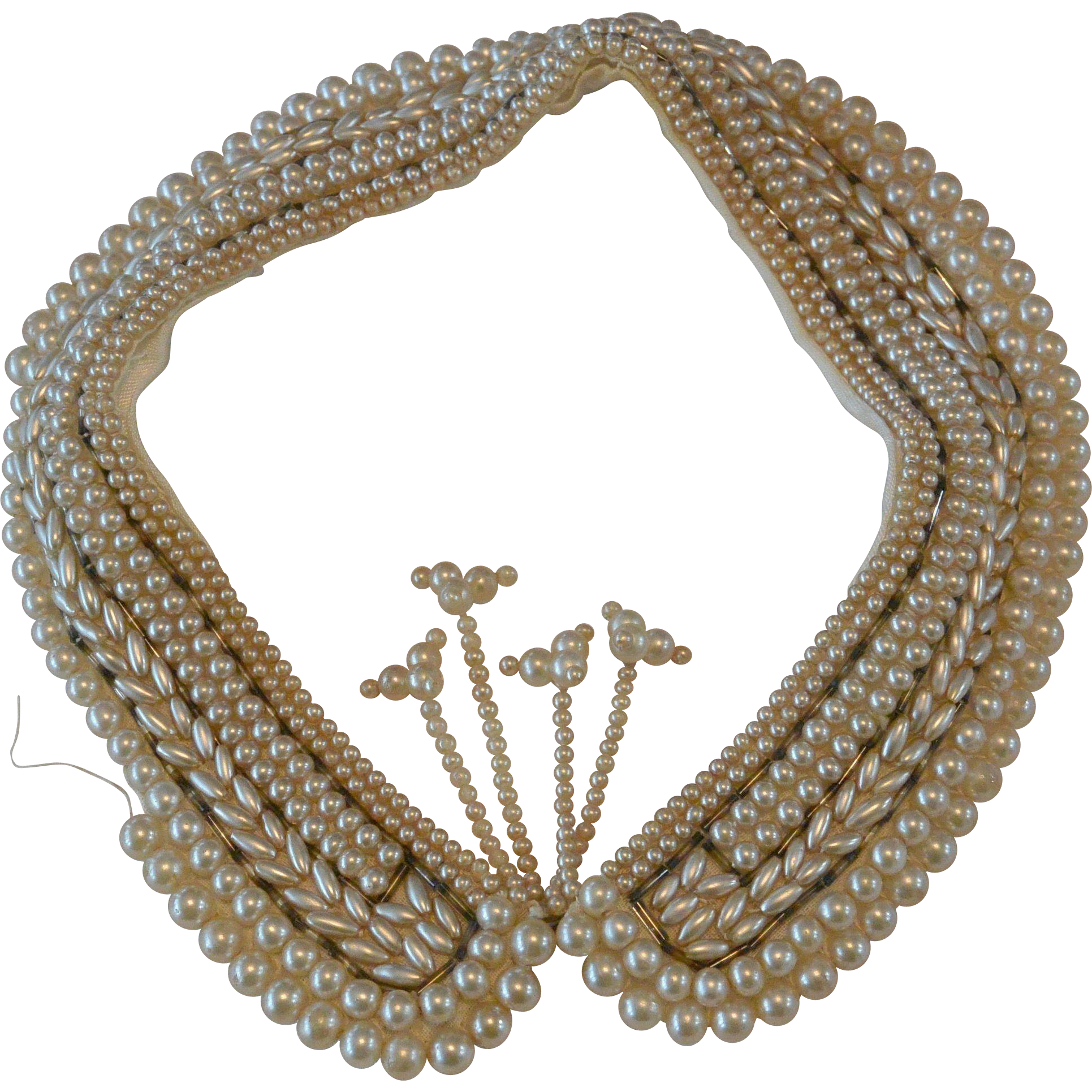 Old Faux Pearls Neck Collar