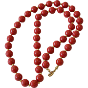 24.0 Inch Red Beads Necklace