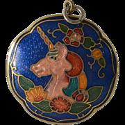 Two Sided Cloisonné Necklace Pendant