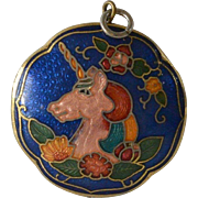 Two Sided Cloisonné Necklace Pendant