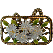 Daisy Flowers Motif Scarf Holder