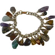 Natural Stones Dangle Bracelet