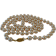 32.0 Inch Glass Faux Pearls Necklace