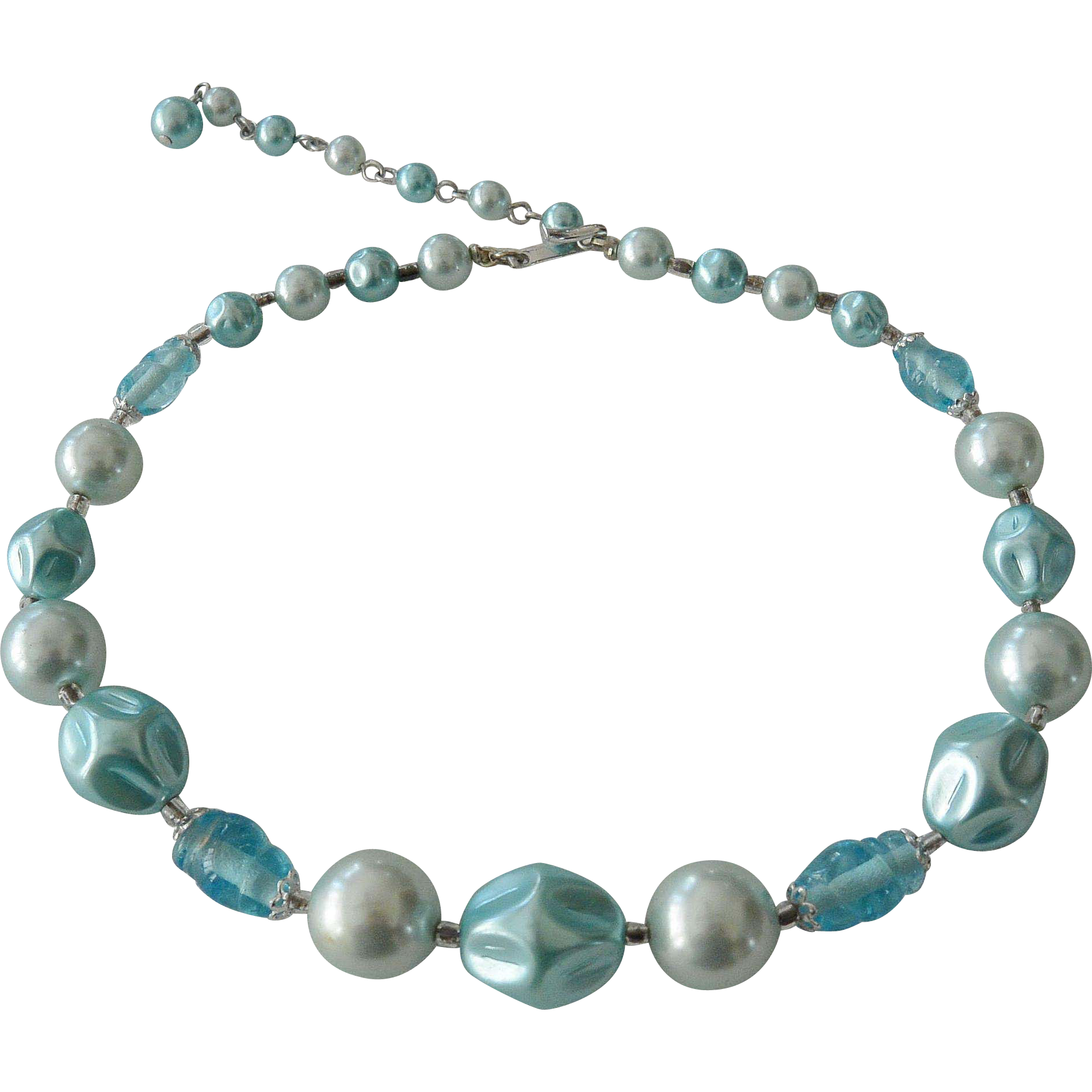 Japan Blue Faux Pearls Necklace