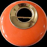 "Sarah Coventry ""Bold Gypsy"" Pin Orange"