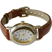 Working 1980's Cherokee Quartz Watch Leather Band