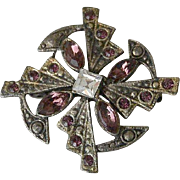 Celtic Pin Purple Rhinestones