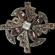 Celtic Pin Purple Rhinestones