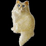 Blue Eyed Cat Swirl Enamel Pin