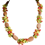 Western Germany Fruit Salad Necklace