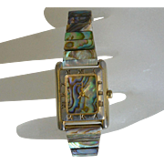 Pierre Nicol Shell Inlay Quartz Women's Bracelet Watch