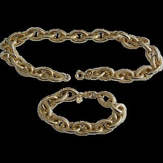 """BIB'N TUCK""  Signed Sarah Coventry 1960's Necklace Bracelet Set"