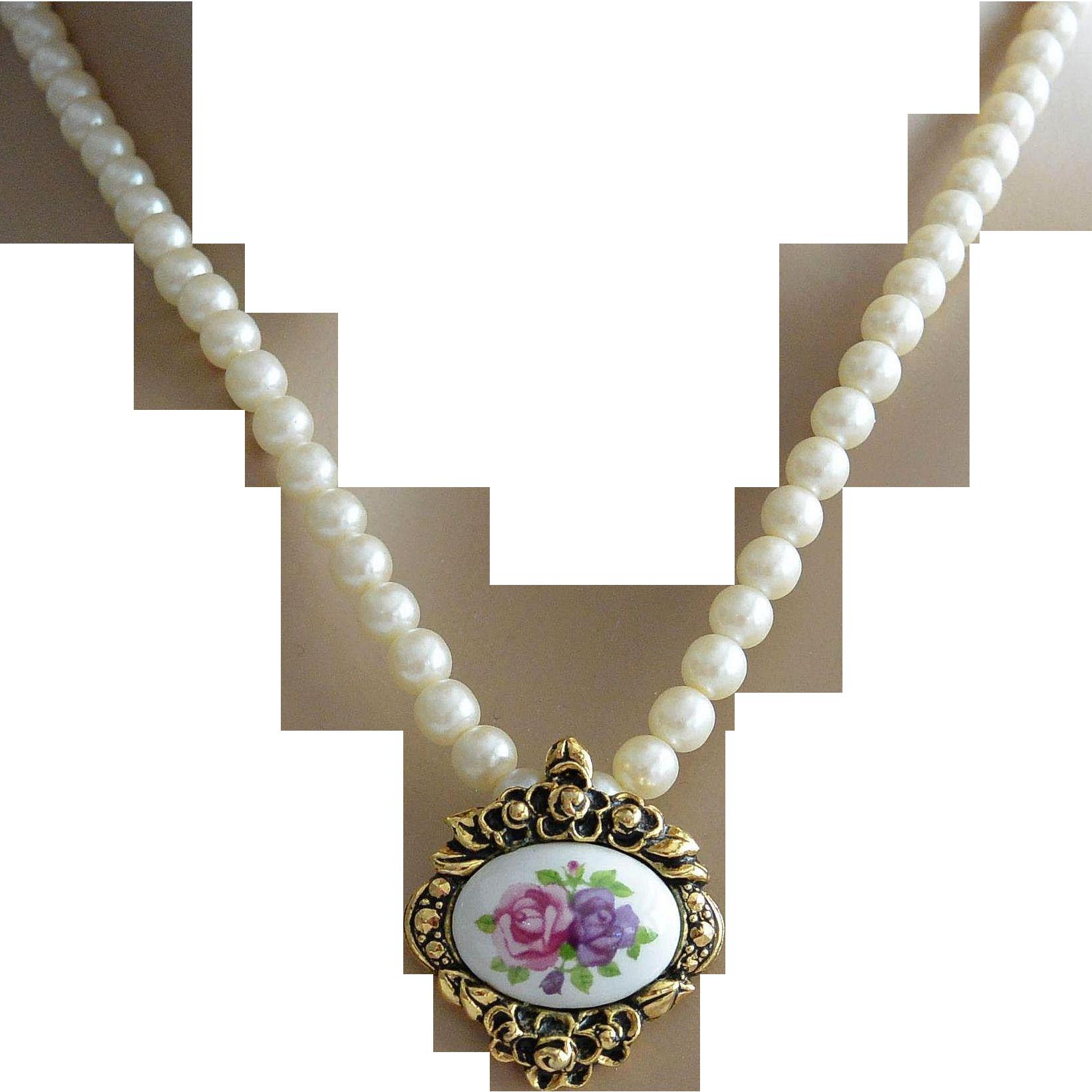 Victorian Revival Pendant Necklace - Avon