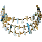 Mother of Pearl Three Strands Necklace