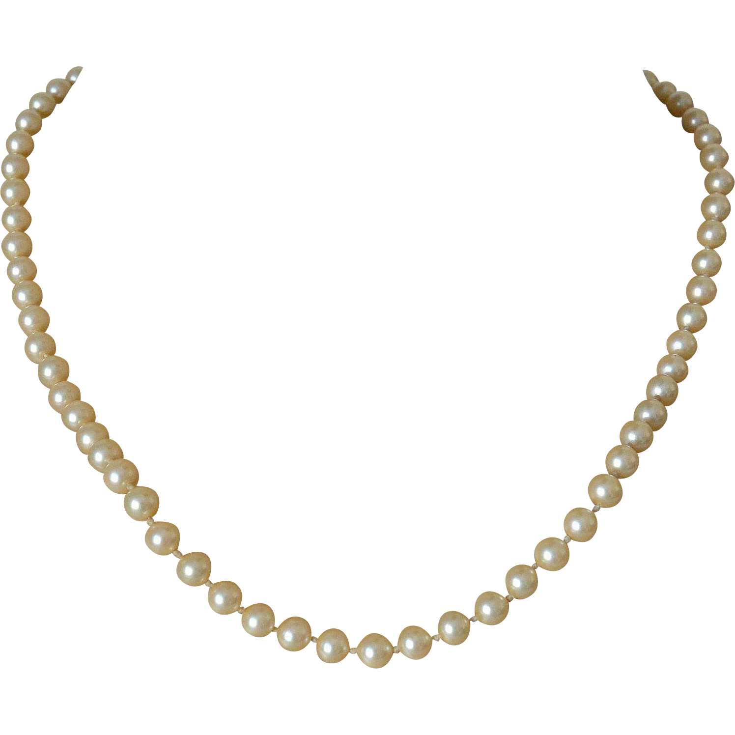 Marvella Simulated Pearls Single Strand Necklace
