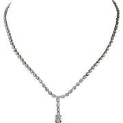Mid Century Basic Rhinestone Drop Necklace