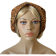 Babushka and Head Band Set-Leopard Pattern