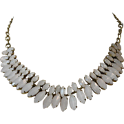 Egyptian Revival Bib Style Necklace - Pink Blush