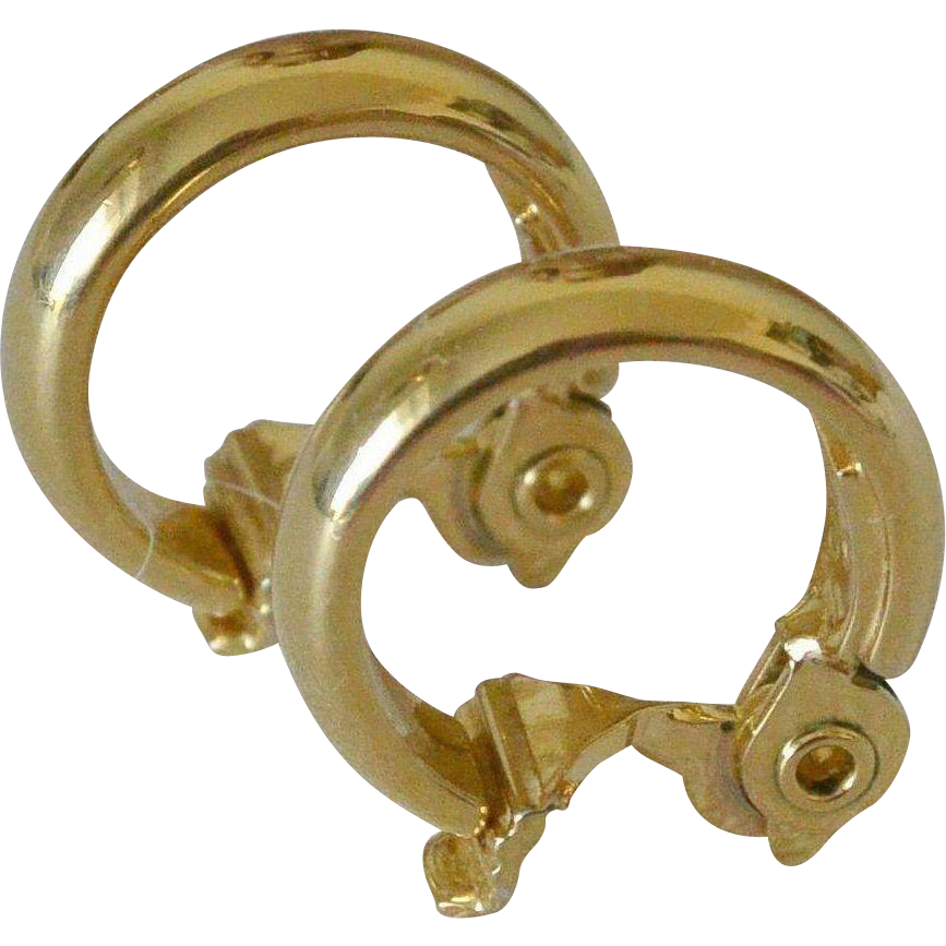 Basic Monet Gold Tone Hoop Earrings