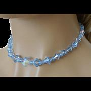 Blue Aurora Borealis Crystals Necklace