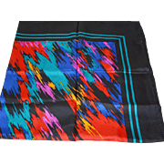 Forele 35.0 Inch Square Women's Silk Scarf Bold Colors